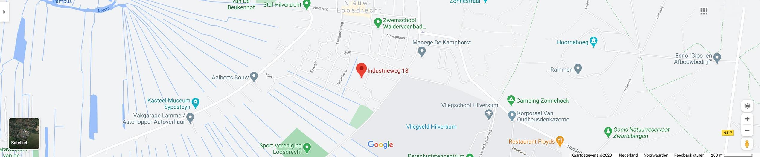 Van de Bor Montage op Google Maps