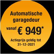 Label jaaractie 2021 garagedeur Hormann
