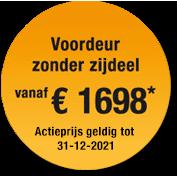 Label jaaractie 2020 voordeur Hormann